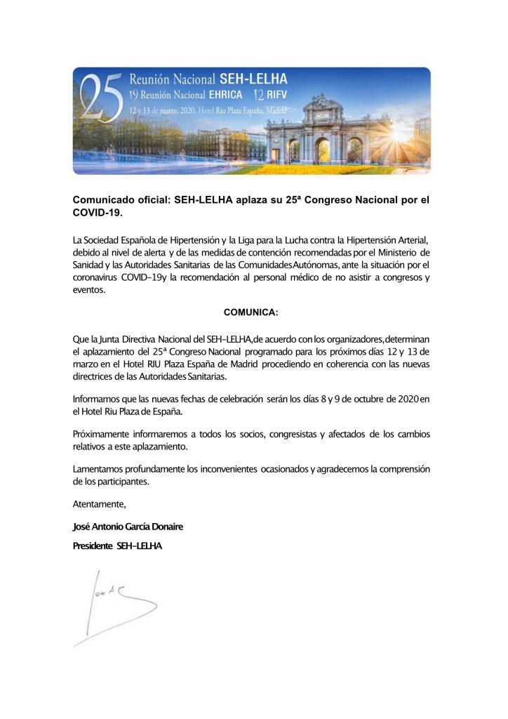 Comunicado Oficial SEH-LELHA